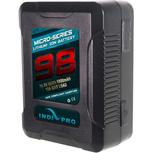 IndiPRO Tools Micro-Series V-Mount Li-Ion Battery- 98Wh