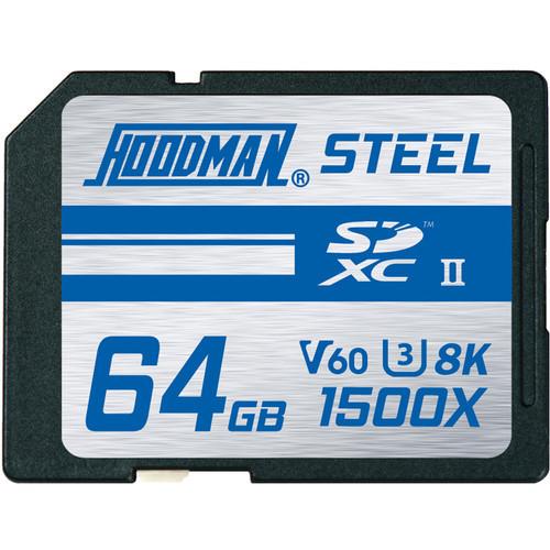 Hoodman 64GB Steel UHS-II SDXC Memory Card