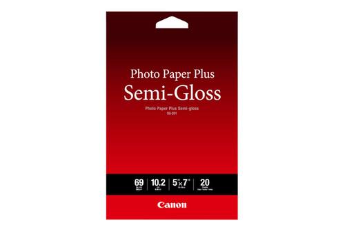 """Canon SG-201 Photo Paper Plus Semi-Gloss- 5 x 7"""", 20 Sheets"""