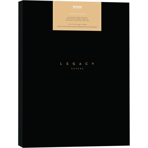 "Epson Legacy Platine Paper - 8.5x11"" 25 Sheets"