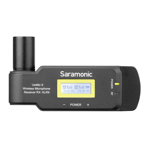 Saramonic UwMic9 RX-XLR9 Compact Plug-On XLR Dual-Channel UHF Wireless Receiver
