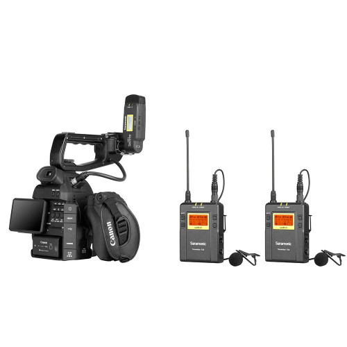 Saramonic UwMic9 TX9+TX9+RX-XLR9 Dual-Channel UHF Wireless Lavalier Mic System with Plug-On XLR Receiver