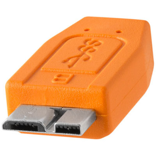 Tether Tools TetherPro USB Type-C Male to Micro-USB 3.0 Type-B Male Cable - Orange, 15'