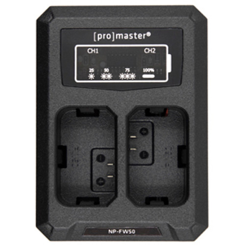 ProMaster USB Dually Charger for Sony NP-FW50