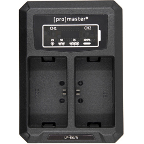 ProMaster USB Dually Charger for Canon LP-E6