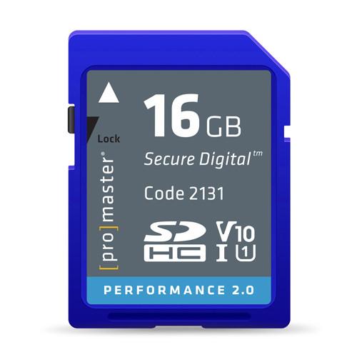 ProMaster Performance SDHC 16GB 2.0 UHS-I Memory Card