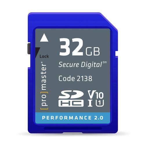 ProMaster Performance SDHC 32GB 2.0 UHS-I Memory Card