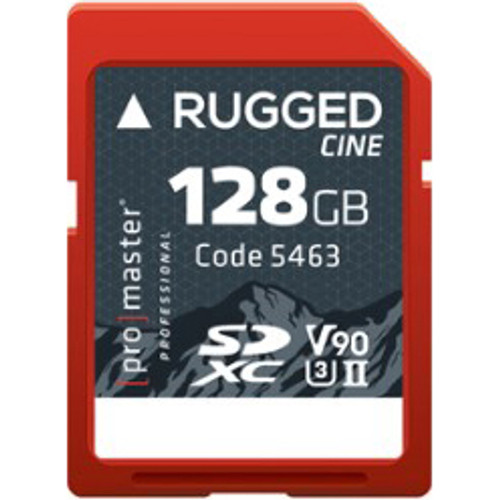 ProMaster Rugged Cine SDXC 128GB UHS-II Memory Card