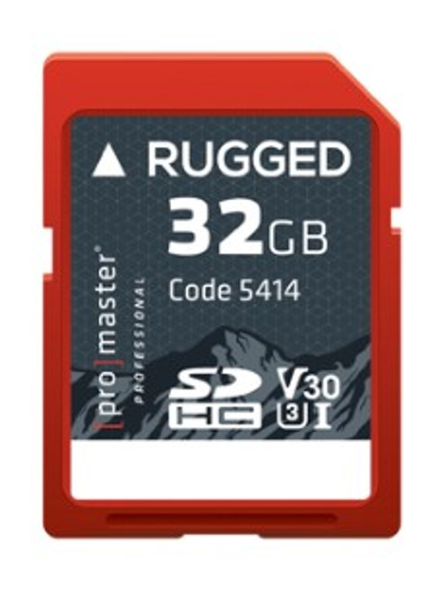 ProMaster Rugged SDHC 32GB UHS-I Memory Card