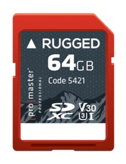 ProMaster Rugged SDXC 64GB UHS-I Memory Card