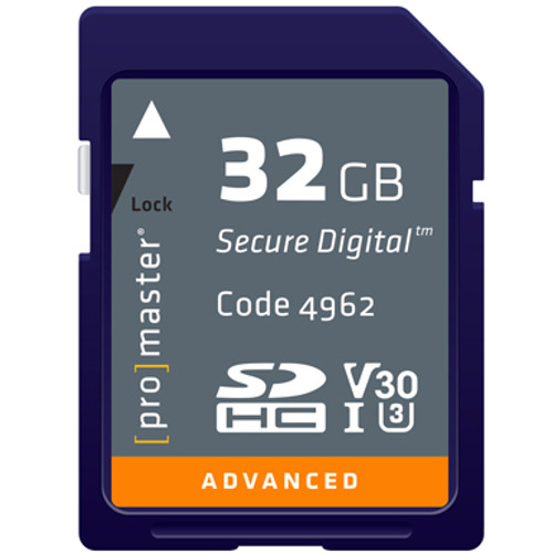ProMaster Advanced SDHC 32GB UHS-I Memory Card