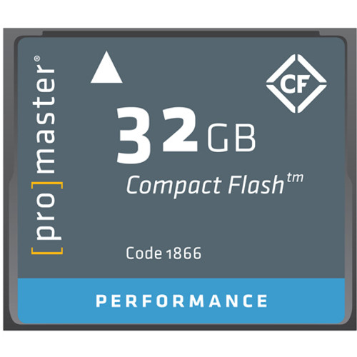 ProMaster Performance CF 32GB 500X Memory Card