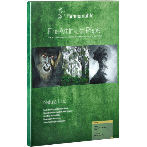 """Hahnemuhle Hemp FineArt Natural Line Paper - 13 x 19"""", 25 Sheets"""