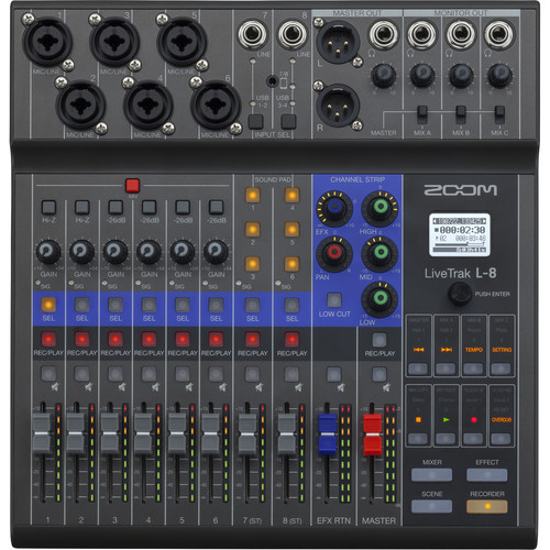 Zoom LiveTrak L-8 Portable 8-Channel Mixer and Multitrack Recorder