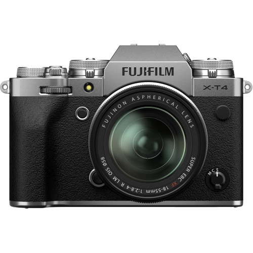 FUJIFILM X-T4 Mirrorless Camera Body - Silver (Lens Not Included)