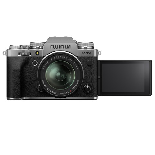 FUJIFILM X-T4 Mirrorless Camera with 18-55mm Lens - Silver