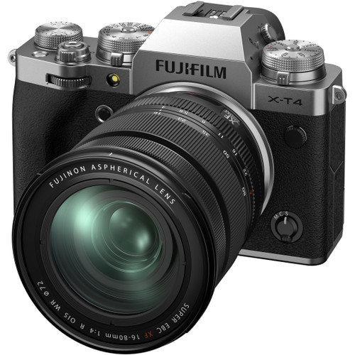 FUJIFILM X-T4 Mirrorless Camera with 16-80mm Lens - Silver