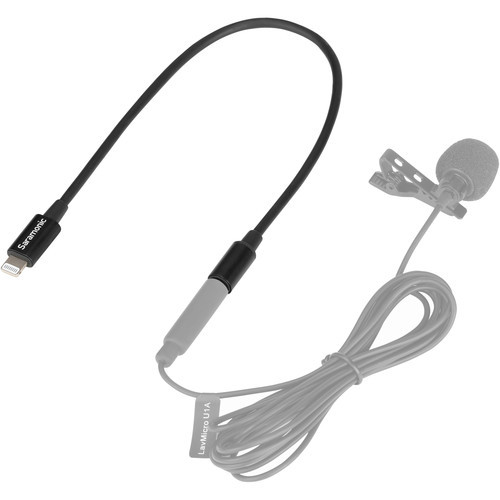 "Saramonic SR-C2000 3.5mm TRS Male to Lightning 9"" Adapter Cable for Audio to iPhone"