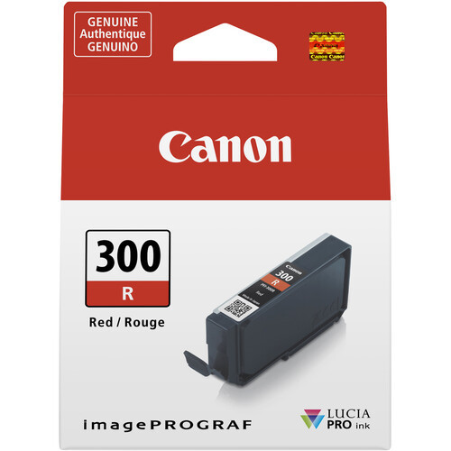 Canon PFI-300 Ink Tank - Red