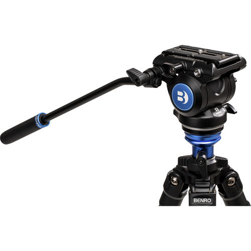 Benro A2573F Aluminum Single Tube Tripod with S4Pro Fluid Video Head