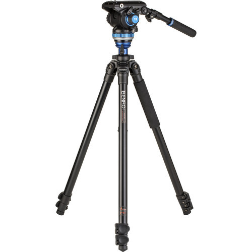 Benro A2573F Aluminum Single Tube Tripod with S6Pro Fluid Video Head
