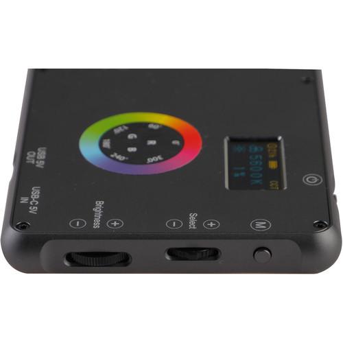 Phottix M200R RGB LED On-Camera Light Panel with USB Power Bank