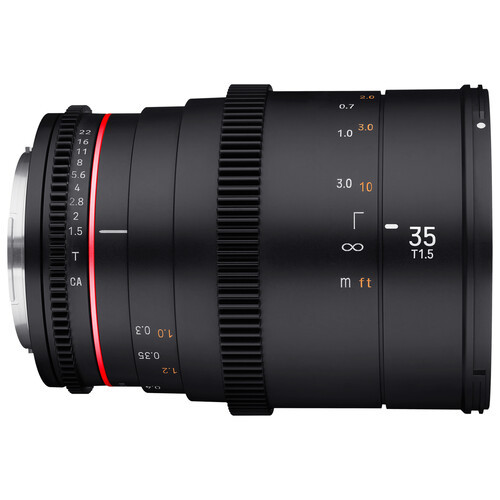 Rokinon 35mm T1.5 DSX High-Speed Cine Lens - Micro 4/3