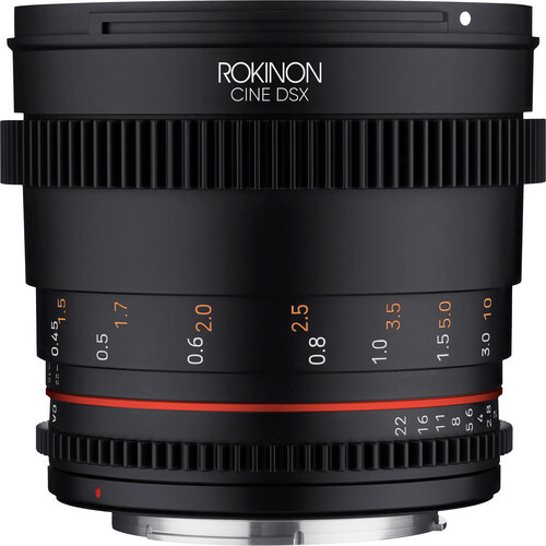 Rokinon 50mm T1.5 DSX High-Speed Cine Lens - Canon EF Mount