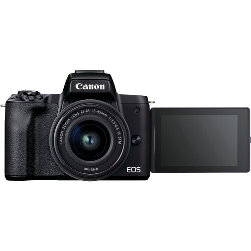 Canon EOS M50 II Mirrorless Camera with 15-45mm Lens - Black