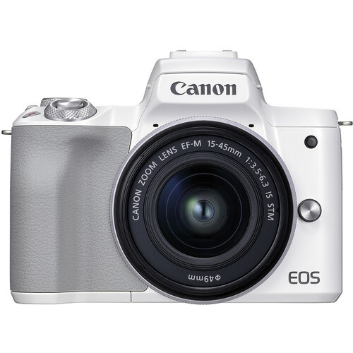 Canon EOS M50 II Mirrorless Camera with 15-45mm Lens - White