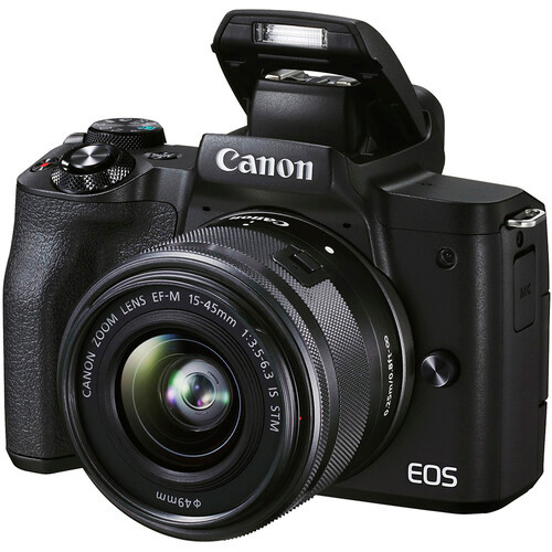Canon EOS M50 II Mirrorless Camera with 15-45mm and 55-200mm Lenses - Black