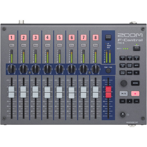 Zoom F-Control for F8n, F8, F6, and F4 Multitrack Field Recorders