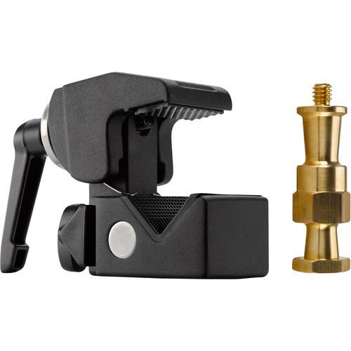 Kupo Convi Clamp with Adjustable Handle and Hex Stud - Black