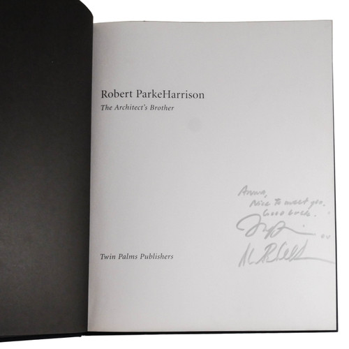 The Architect's Brother by Robert ParkeHarrison (First Edition, Signed Copy)