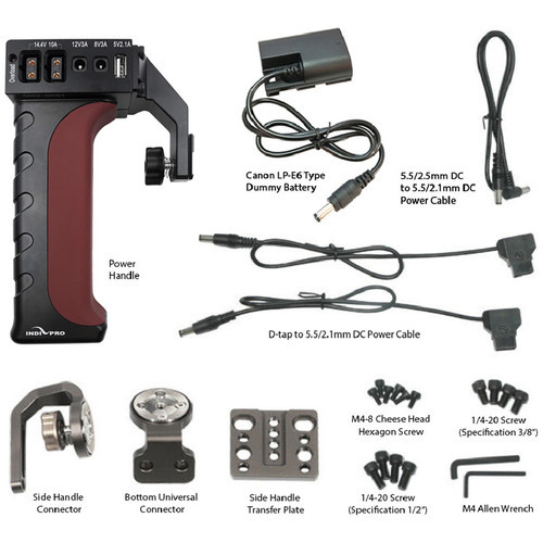 IndiPRO Tools Universal Power Grip for Devices with Canon LP-E6 Battery - Black