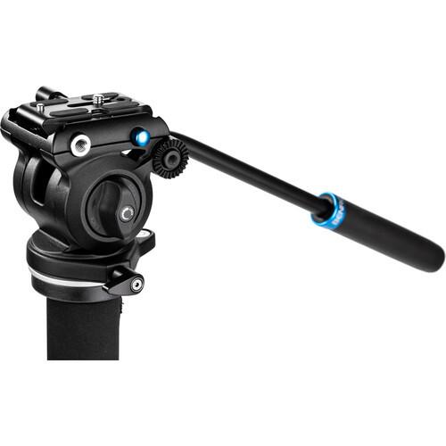 Benro Classic Video Monopod with S2 Pro Flat Base Fluid Video Head