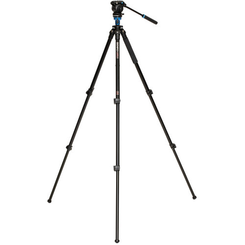 Benro Aluminum Tripod with S2 PRO 60mm Flat Base Video Head