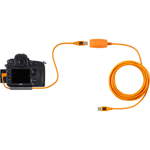 """Tether Tools 20"""" TetherPro USB 3.0 Male to Micro-B Right Angle Cable - High-Visibilty Orange"""