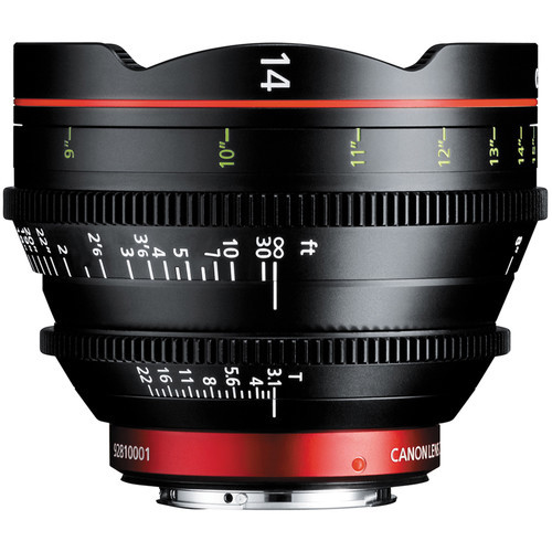 Canon CN-E 14mm T3.1 L F Cinema Prime Lens - EF Mount