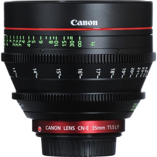 Canon CN-E 35mm T1.5 L F Cinema Prime Lens - EF Mount