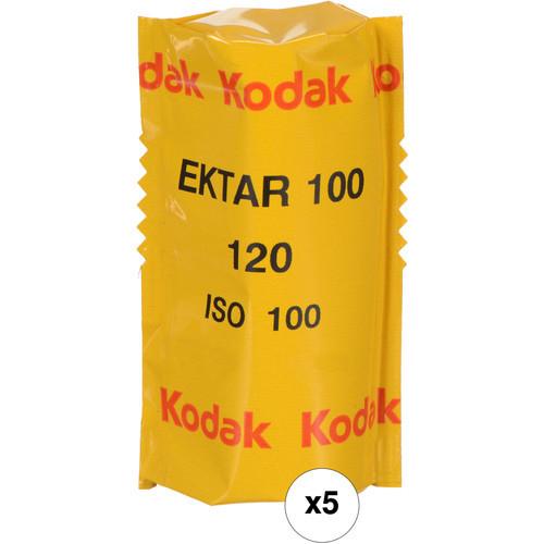 Kodak Professional Ektar 100 Color Negative Film- 120 Roll Film, 5-Pack