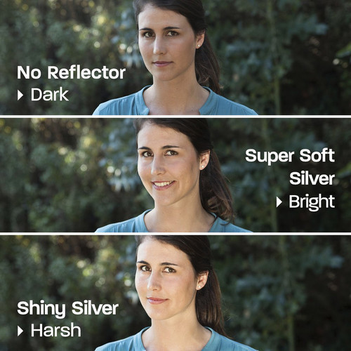 """Rogue 2-In-1 Reflector - 20x40"""", Silver/Natural White"""