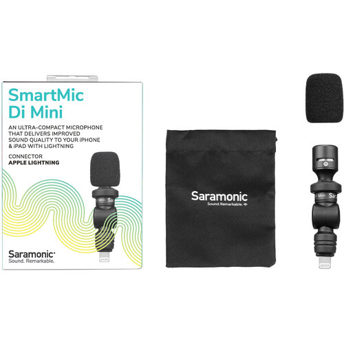 Saramonic SmartMic Di Mini Ultracompact Omnidirectional Condenser Microphone for Lightning iOS Mobile Devices