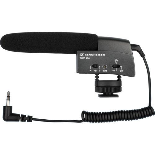 Sennheiser MKE 400 Compact Video Camera Shotgun Microphone