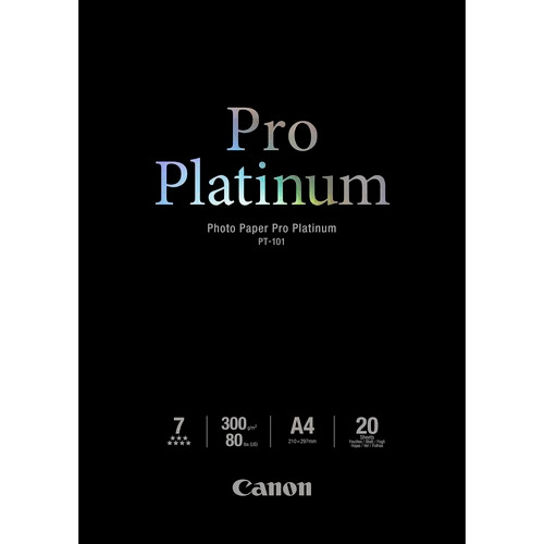 "Canon Pro Platinum Photo Paper 8.5 x 11""- 20 Sheets"