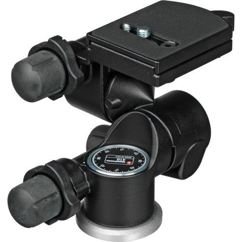 Manfrotto 410 3-Way, Geared Pan-and-Tilt Head with 410PL Quick Release Plate