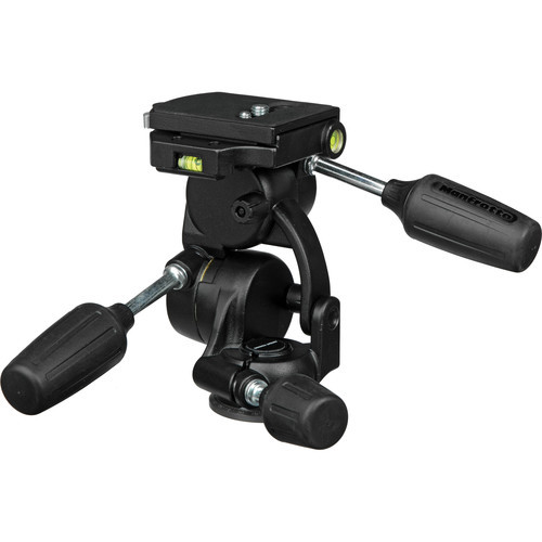 Manfrotto 808RC4 3-Way, Pan-and-Tilt Head with 410PL Quick Release Plate