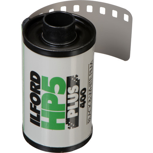 Ilford HP5 Plus Black and White Negative Film- 35mm Roll Film, 36 Exposures