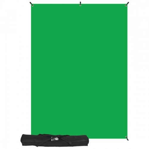 Westcott Photo Basics Fabric Green Screen Kit w/Stand - 5'x7'