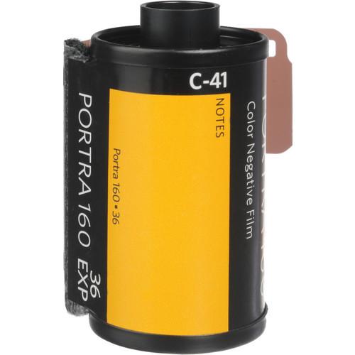Kodak Professional Portra 160 Color Negative Film- 35mm Roll Film, 36 Exposures, 5-Pack
